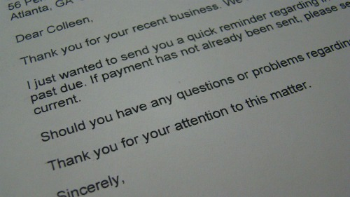 Account Receivable Collection Letter from c2cresourcesblog.com
